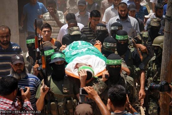 تشييع جثمان الشهيد القسامي/ محمد زايد العبيد