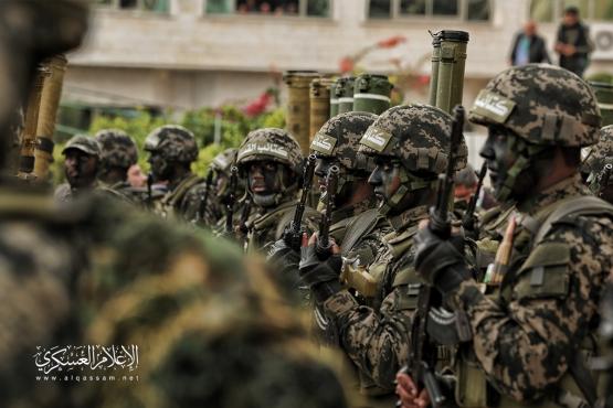 الجوقة العسكرية لكتائب القسام في مهرجان الانطلاقة