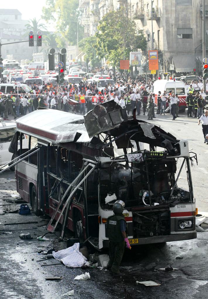 تفجير الحافلة رقم (14) بالقدس المحتلة