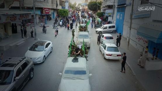 المسير العسكري لكتائب القسام بغزة - التفاح والدرج